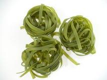 绿色意大利面食 库存照片