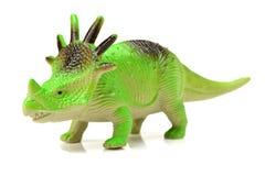 绿色戟龙玩具 库存图片