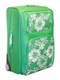 绿色手提箱旅行 免版税图库摄影
