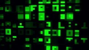 绿色抽象数字正方形VJ圈行动背景 皇族释放例证