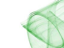 绿色抽象构成 向量例证