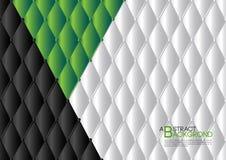 绿色抽象背景传染媒介例证,盖子模板布局,企业飞行物,皮革纹理豪华 库存例证
