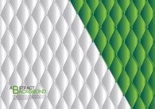 绿色抽象背景传染媒介例证,盖子模板布局,企业飞行物,皮革纹理 向量例证