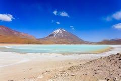 绿色拉古纳Verde,玻利维亚 图库摄影