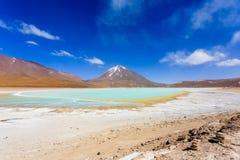 绿色拉古纳Verde,玻利维亚 库存图片