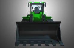 绿色拖拉机 免版税库存图片