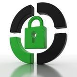 绿色挂锁 免版税库存照片