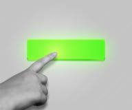 绿色按钮 免版税库存图片