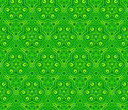 绿色摘要卷曲无缝的模式 免版税库存照片