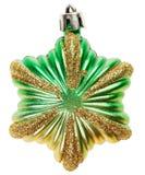 绿色新年度装饰星形玩具 库存图片