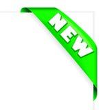 绿色新的丝带 免版税库存照片