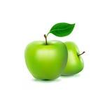 绿色新鲜的苹果的照片拟真的图象 免版税库存照片