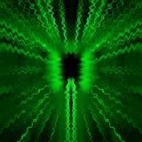 绿色无线电波 免版税库存照片