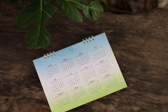 绿色日历 库存图片