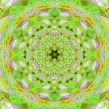 绿色星坛场,作用瓦片在绿色和黄色ligth颜色 图库摄影