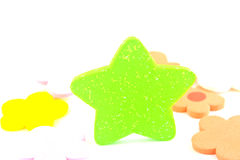 绿色星形。 库存图片