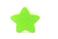 绿色星形。 图库摄影