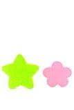 绿色星形。 免版税库存照片