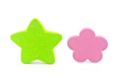 绿色星形。 免版税库存图片