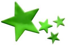 绿色星形 免版税库存照片