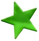 绿色星形 图库摄影