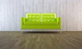 绿色最小的沙发样式 皇族释放例证