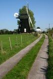 绿色有花边的风车 免版税库存图片