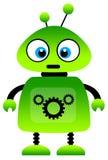 绿色机器人 免版税库存照片