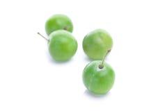 绿色李子 免版税库存照片