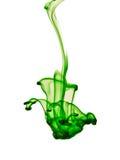 绿色染料 免版税库存图片