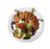 绿色查出炖煮的食物白色 免版税图库摄影