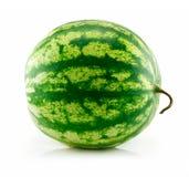 绿色查出的成熟西瓜白色 免版税库存照片