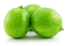 绿色查出的石灰成熟白色 免版税库存图片
