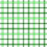 绿色格子花呢披肩数据条 图库摄影