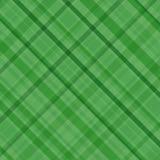 绿色格子花呢披肩 免版税库存图片