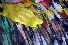 绿色桃红色金黄蓝色银色闪耀的背景,五颜六色的生动的蜡状的颜色,对比创造性的背景 图库摄影