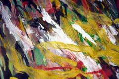 绿色桃红色金黄银色闪耀的背景,五颜六色的生动的蜡状的颜色,对比创造性的背景 库存图片