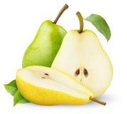 绿色梨黄色 免版税库存照片