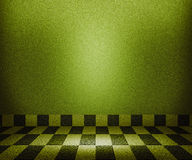 绿色棋枰马赛克空间背景 免版税库存图片