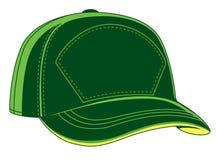 绿色棒球帽 免版税库存图片