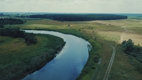 绿色森林和蓝色河 影视素材