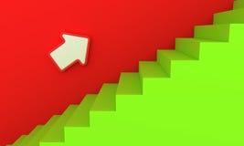 绿色楼梯 皇族释放例证