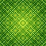 绿色模式无缝的正方形 免版税库存照片