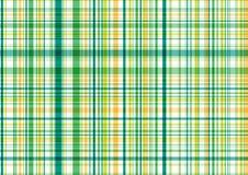 绿色模式格子花呢披肩黄色 库存照片