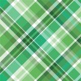 绿色模式格子花呢披肩 免版税图库摄影