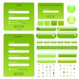 绿色模板万维网 库存例证