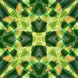 绿色橙色优美的金刚石摘要纹理 方形的无缝的瓦片 详细的发光的宝石背景例证 豪华织品de 皇族释放例证