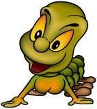 绿色橙色蠕虫 免版税库存照片