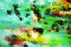 绿色橙色金刚石喜欢形状,抽象纹理 免版税库存图片