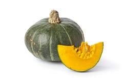 绿色橙色黏浆状物质南瓜 库存图片